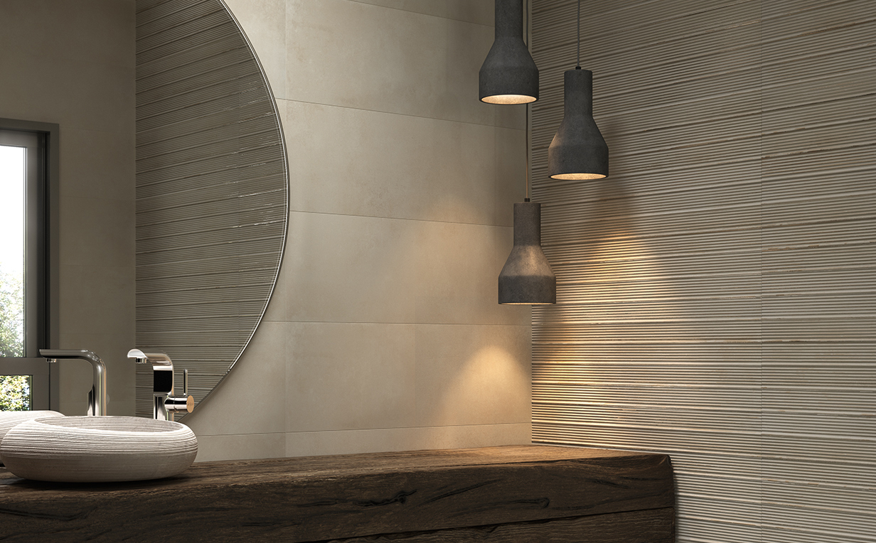 Carrelage sol et mur aspect m tal forge essentiels - Carrelage aspect metal ...