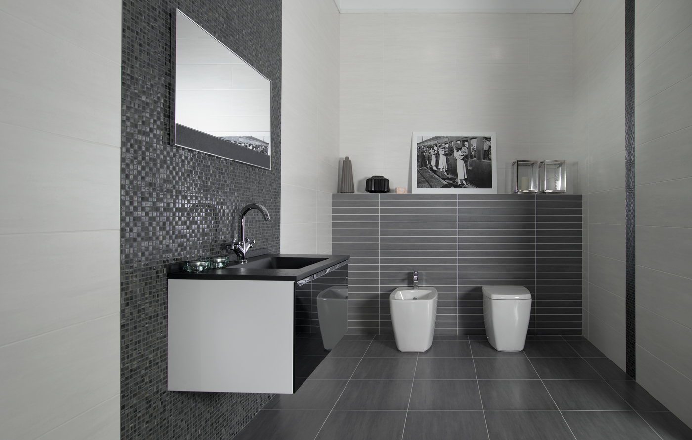 Awesome salle de bain carrelage blanc gallery for Carrelage 01