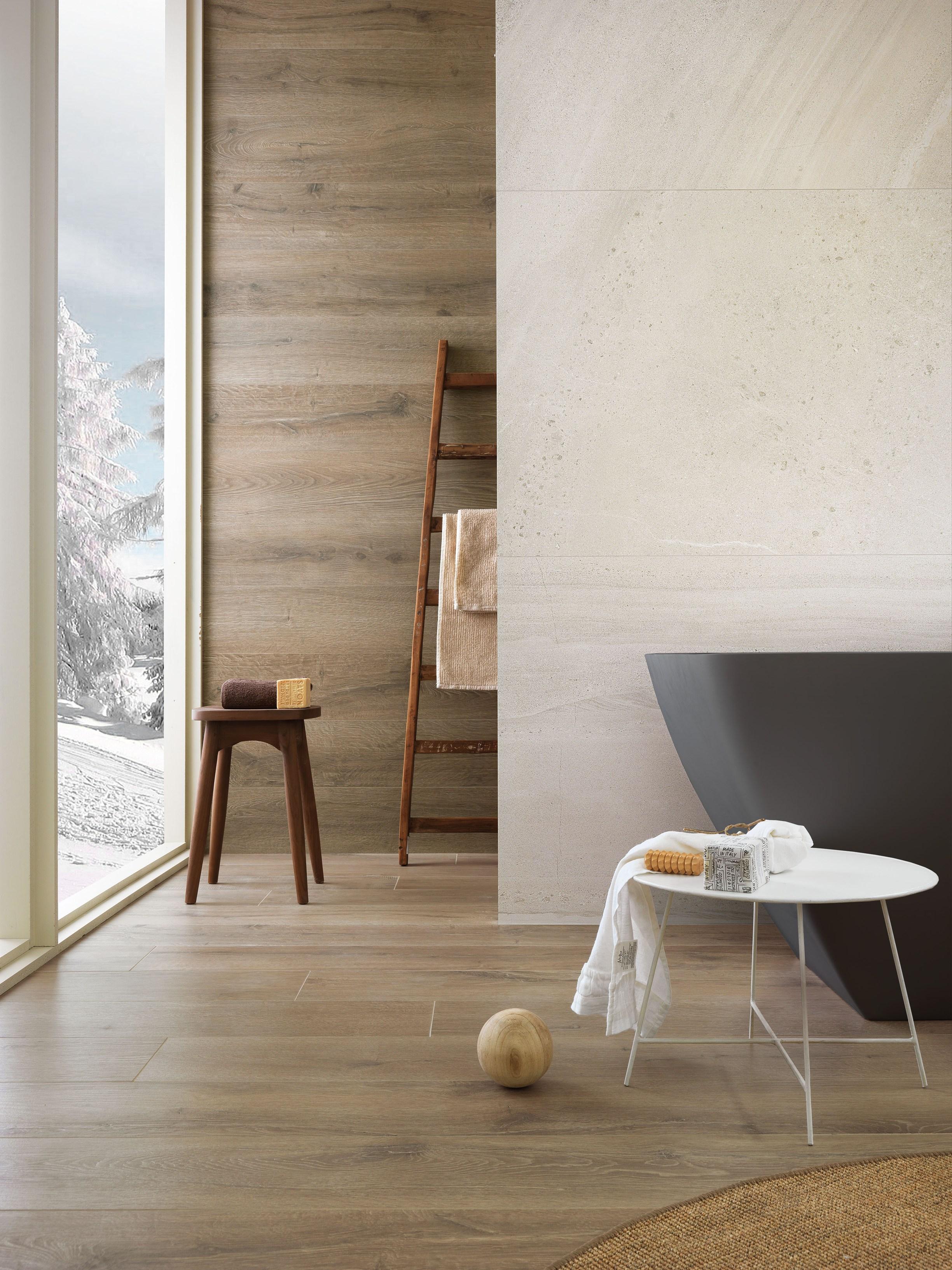 Salle de bain n 2 sol carrelage imitation parquet aulne ma for Carrelage salle de bain imitation pierre